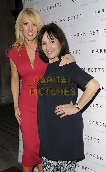 LONDON, UNITED KINGDOM - NOVEMBER 25: Karen Betts &amp; Arlene Phillips attends the Gift of Confidence party hosted by make up artist Karen Betts at Vanilla on November 25, 2013 in London, England. <br /> CAP/CAN<br /> &copy;Can Nguyen/Capital Pictures