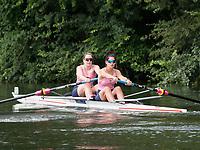 Henley Royal Regatta, Henley on Thames, Oxfordshire, 28 June - 2 July 2017.  Friday  10:47:47   30/06/2017  [Mandatory Credit/Intersport Images]<br /> <br /> Rowing, Henley Reach, Henley Royal Regatta.<br /> <br /> The Women's Pair<br />  A.L. Hagan &amp; R.E. Popa (Banks Rowing Club, Australia)