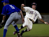 Cheyenne Post 6 centerfielder Brandon Nimmo, right, slides into third base for a triple during a legion league game against a team from Twin Falls, Idaho on Tuesday, June 21, 2011, at Powers Field in Cheyenne, Wyo. (Photo by James Brosher)