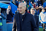 Zinedine Zidane coach of Real Madrid during La Liga match between Getafe CF and Real Madrid at Coliseum Alfonso Perez in Getafe, Spain. January 04, 2020. (ALTERPHOTOS/A. Perez Meca)