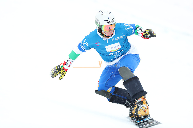 Parallel Slalom event of the FIS Snowboard World Cup on 19/12/2019 in Carezza, Italy.<br />  Maurizio Bormolini (ITA)