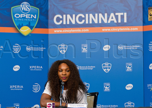 13.08.2012. Mason, Ohio, USA.  Serena Williams press conference during the First Round of the Western And Southern Open at the Lindner Family Tennis Center in Cincinnati, Ohio.