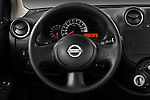 Steering wheel view of a 2011 Nissan Micra Visia 5 Door Micro Car