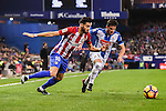 Yannick Ferreira Carrasco of Atletico de Madrid battles for the ball with Pablo Daniel Piatti of RCD Espanyol during the La Liga match between Atletico de Madrid and RCD Espanyol at the Vicente Calderón Stadium on 03 November 2016 in Madrid, Spain. Photo by Diego Gonzalez Souto / Power Sport Images