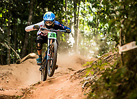 Picture by Alex Broadway/SWpix.com - 10/09/17 - Cycling - UCI 2017 Mountain Bike World Championships - Downhill - Cairns, Australia - Henry Kerr of Great Britain competes in the Men's Junior Downhill Final.