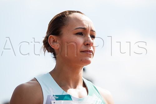 26.06.2016. Ratingen, Germany.  British heptathlete Jessica Ennis-Hill lines up for the 800-metre race at the Combined Events Challenge meeting in Ratingen, Germany, 26 June 2016.