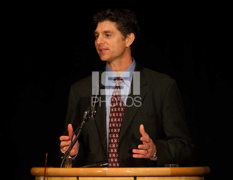 Stan Spencer  during his speech at Stanford Athletics Hall of Fame, event on November 11, 2011, at the Alumni Center.  ( Norbert von der Groeben )