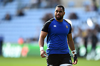 Joe Cokanasiga of Bath Rugby looks on during the pre-match warm-up. Heineken Champions Cup match, between Wasps and Bath Rugby on October 20, 2018 at the Ricoh Arena in Coventry, England. Photo by: Patrick Khachfe / Onside Images