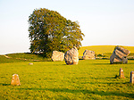 Neolithic stone circle and henge at Avebury, Wiltshire, England, UK