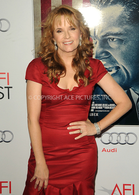 WWW.ACEPIXS.COM . . . . .  ....November 3 2011, LA....Lea Thompson arriving at the AFI FEST 2011 Presented By Audi - 'J. Edgar' Opening Night Gala at Grauman's Chinese Theatre on November 3, 2011 in Hollywood, California.....Please byline: PETER WEST - ACE PICTURES.... *** ***..Ace Pictures, Inc:  ..Philip Vaughan (212) 243-8787 or (646) 679 0430..e-mail: info@acepixs.com..web: http://www.acepixs.com