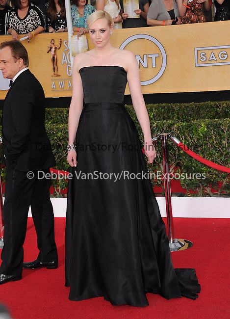 Gwendoline Christie attends The 20th SAG Awards held at The Shrine Auditorium in Los Angeles, California on January 18,2014                                                                               © 2014 Hollywood Press Agency
