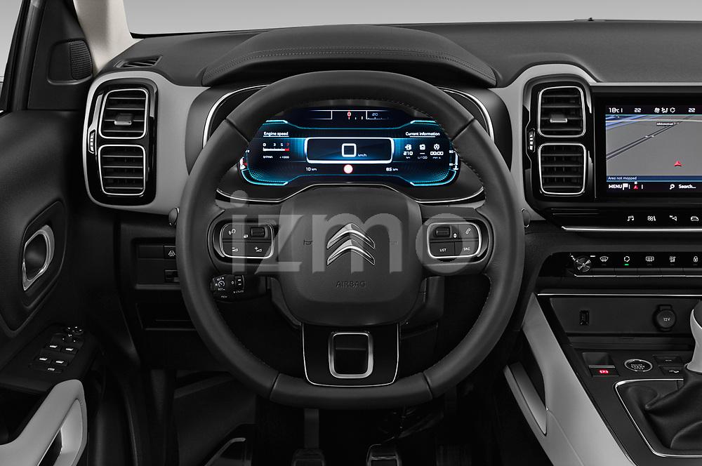 Car pictures of steering wheel view of a 2019 Citroen C5-Aircross Shine 5 Door SUV Steering Wheel