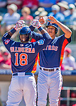 4 March 2016: Houston Astros infielder Luis Valbuena gets a high ten from Carlos Correa after hitting a solo home run during a Spring Training pre-season game against the St. Louis Cardinals at Osceola County Stadium in Kissimmee, Florida. The Astros defeated the Cardinals 6-3 in Grapefruit League play. Mandatory Credit: Ed Wolfstein Photo *** RAW (NEF) Image File Available ***