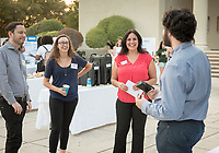 Claudia Biezonsky. Career Services hosts the Summer Experience Expo, where Occidental College student interns from the InternLA program and INT Internship course shared information about the organizations they worked for over the summer. Sept. 7, 2017 at Thorne Hall patio. Employers were also in attendance.<br /> (Photo by Marc Campos, Occidental College Photographer)