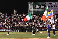 Bandera de Puerto Rico, Bandera de Italia, Bandera de MExico, y bandera de Venezuela. Aspectos del partido Mexico vs Italia, durante Cl&aacute;sico Mundial de Beisbol en el Estadio de Charros de Jalisco.<br /> Guadalajara Jalisco a 9 Marzo 2017 <br /> Luis Gutierrez/NortePhoto.com