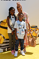 Torrei Hart, Heaven Hart &amp; Hendrix Hart at the world premiere for &quot;Despicable Me 3&quot; at the Shrine Auditorium, Los Angeles, USA 24 June  2017<br /> Picture: Paul Smith/Featureflash/SilverHub 0208 004 5359 sales@silverhubmedia.com