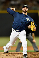 Pitcher Joseph Zanghi (39) of the Columbia Fireflies delivers a pitch in a game against  the West Virginia Power on Thursday, May 18, 2017, at Spirit Communications Park in Columbia, South Carolina. Columbia won in 10 innings, 3-2. (Tom Priddy/Four Seam Images)