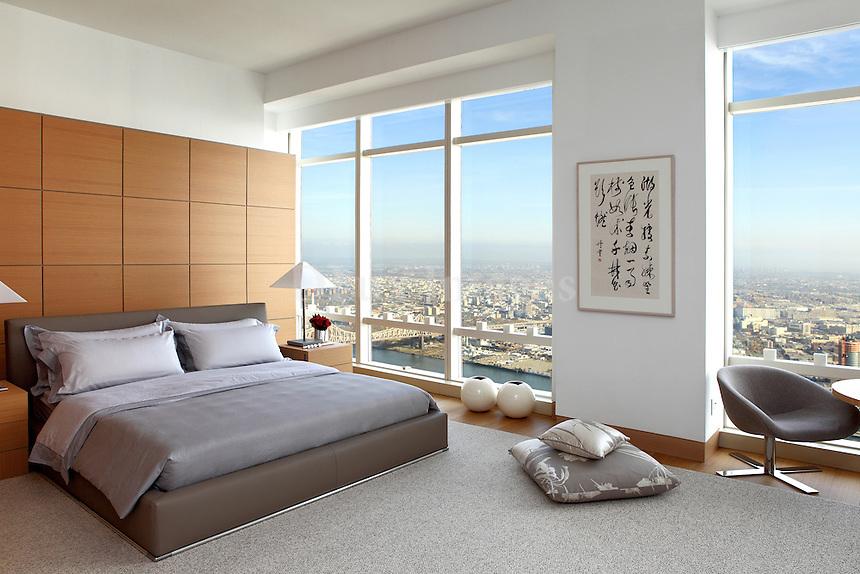 contemporary wooden bedroom
