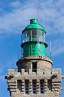 France, Côtes-d'Armor (22), Côte d'Emeraude, Plévenon,  Cap Frehel,   Lanterne du Phare du Cap Fréhel //  France, Brittany, Cotes-D'Armor,  Emeraude coast , Cap Frehel, Lantern Cap Frehel Lighthouse