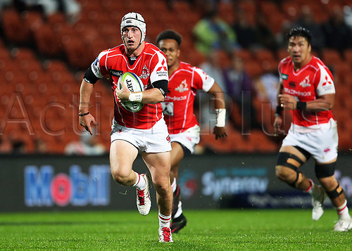 April 29th 2017, FMG Stadium Waikato, Hamilton, New Zealand; Super Rugby; Chiefs versus Sunwolves;  Sunwolves first five Hayden Cripps makes a break during the Super Rugby rugby match
