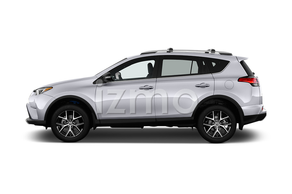 Car Driver side profile view of a 2016 Toyota RAV4 SE 5 Door SUV Side View