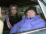 Parade Grand Marshal Patricia Reid and Ardee Festival Queen Aoife Rogers at Ardee St Patrick's day parade. Photo:Colin Bell/pressphotos.ie