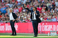 Chelsea manager Antonio Conte reacts <br /> <br /> Photographer Craig Mercer/CameraSport<br /> <br /> Emirates FA Cup Final - Chelsea v Manchester United - Saturday 19th May 2018 - Wembley Stadium - London<br />  <br /> World Copyright &copy; 2018 CameraSport. All rights reserved. 43 Linden Ave. Countesthorpe. Leicester. England. LE8 5PG - Tel: +44 (0) 116 277 4147 - admin@camerasport.com - www.camerasport.com
