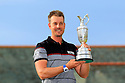 Henrick Stenson of Sweden poses with the claret jug trophy after the final round of the 145th Open Championship played at Royal Troon, Ayrshire, Scotland. 14 - 17 July 2016 (Picture Credit / Phil Inglis)