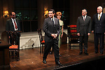Lewis J. Stadlen, Anthony LaPaglia, Kathryn Erbe, Kevin O'Rourke, John Ottavino  during the Curtain Call for the Opening Celebration of 'Checkers' at the Vineyard Theatre in New York City on 11/11/2012