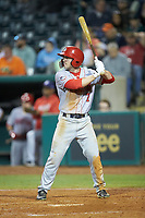 Gage Canning (7) of the Hagerstown Suns at bat against the Greensboro Grasshoppers at First National Bank Field on April 6, 2019 in Greensboro, North Carolina. The Suns defeated the Grasshoppers 6-5. (Brian Westerholt/Four Seam Images)