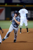Tampa Yankees third baseman Kyle Holder (12) running the bases during the second game of a doubleheader against the Bradenton Marauders on June 14, 2017 at LECOM Park in Bradenton, Florida.  Tampa defeated Bradenton 5-1.  (Mike Janes/Four Seam Images)