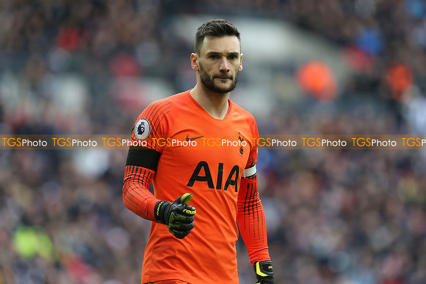 Hugo Lloris of Tottenham Hotspur during Tottenham Hotspur vs Leicester City, Premier League Football at Wembley Stadium on 10th February 2019