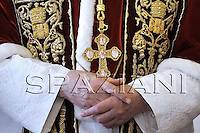 Pope Benedict XVI shakes hands with Togo President  Faure Gnassingbe during an audience at the Vatican January 19, 2008..