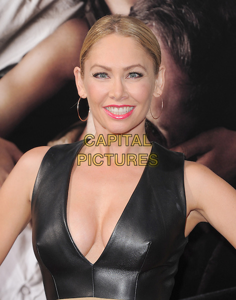 "Kym Johnson.""The Words"" Los Angeles Premiere held at Arclight Cinemas, Hollywood, California, USA..September 4th, 2012.headshot portrait black leather gold hoop earrings pink lipstick low cut neckline cleavage sleeveless .CAP/RKE/DVS.©DVS/RockinExposures/Capital Pictures."