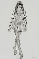Naomi Campbell wears Alexander McQueen. 8 x 12 inches (20.32 x 30.48 cm).