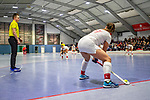 Mannheim, Germany, January 03: During the 1. Bundesliga women indoor hockey match between TSV Mannheim and Mannheimer HC on January 3, 2020 at Primus-Valor Arena in Mannheim, Germany. Final score 4-4. (Photo by Dirk Markgraf / www.265-images.com) *** Miriam Vogt #77 of TSV Mannheim
