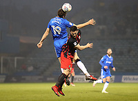 Gillingham's Ben Nugent and Blackburn Rovers' Craig Conway <br /> <br /> Photographer Rachel Holborn/CameraSport<br /> <br /> The EFL Sky Bet League One - Gillingham v Blackburn Rovers - Tuesday 10th April 2018 - Priestfield Stadium - Gillingham<br /> <br /> World Copyright &copy; 2018 CameraSport. All rights reserved. 43 Linden Ave. Countesthorpe. Leicester. England. LE8 5PG - Tel: +44 (0) 116 277 4147 - admin@camerasport.com - www.camerasport.com