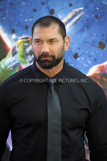 ACEPIXS.COM<br /> <br /> July 24 2014, London<br /> <br /> David Bautista arriving at the UK Premiere of 'Guardians of the Galaxy' at the Empire Leicester Square in London, England<br /> <br /> By Line: Famous/ACE Pictures<br /> <br /> ACE Pictures, Inc.<br /> www.acepixs.com<br /> Email: info@acepixs.com<br /> Tel: 646 769 0430