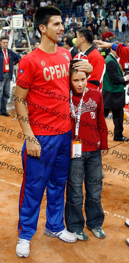 Tenis, Davis Cup, .Serbia Vs. Australia.Novak Djokovic and Djordje Djordje Djokovic, left.Belgrade, 23.09.2007..foto; Srdjan Stevnovic
