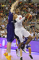 24.07.2012 Barcelona, Spain.  Pre-Olympic friendly game between Spain against USA at Palau St. Jordi. Picture shows Russell Westbrook