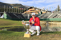 Matthew Fitzpatrick (ENG) wins the 2018 Omega European Masters, after a playoff held at the Golf Club Crans-Sur-Sierre, Crans Montana, Switzerland. 9th September 2018.<br /> Picture: Eoin Clarke | Golffile<br /> <br /> <br /> All photos usage must carry mandatory copyright credit (© Golffile | Eoin Clarke)