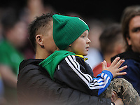 25h May 2014; A young Ireland supporter watching the game. International Friendly, Republic of Ireland v Turkey, Aviva Stadium, Dublin. Picture credit: Tommy Grealy/actionshots.ie.