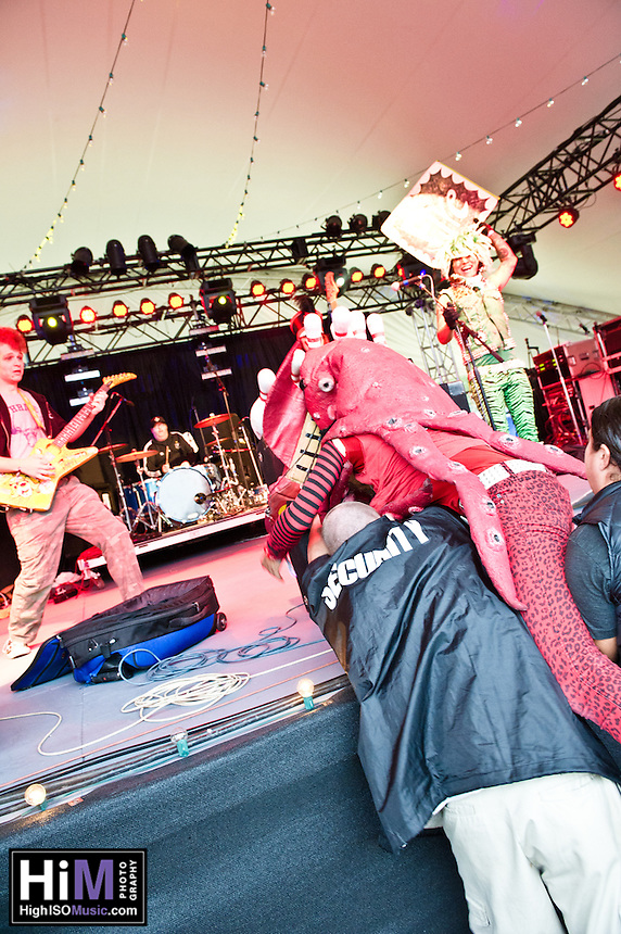 Peelander-Z playing at the 2011 Voodoo Festival in New Orleans, LA.