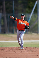 Miami Marlins Tyler Curtis (49) during a Minor League Spring Training Intrasquad game on March 27, 2018 at the Roger Dean Stadium Complex in Jupiter, Florida.  (Mike Janes/Four Seam Images)