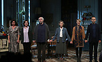 """Lucy Cohu, Amanda Drew,  Jonathan Pryce, Eileen Atkins, Lisa O'Hare and James Hillier during the Broadway Opening Night Curtain Call for the MTC  production of  """"The Height Of The Storm"""" at Samuel J. Friedman Theatre on September 24, 2019 in New York City."""