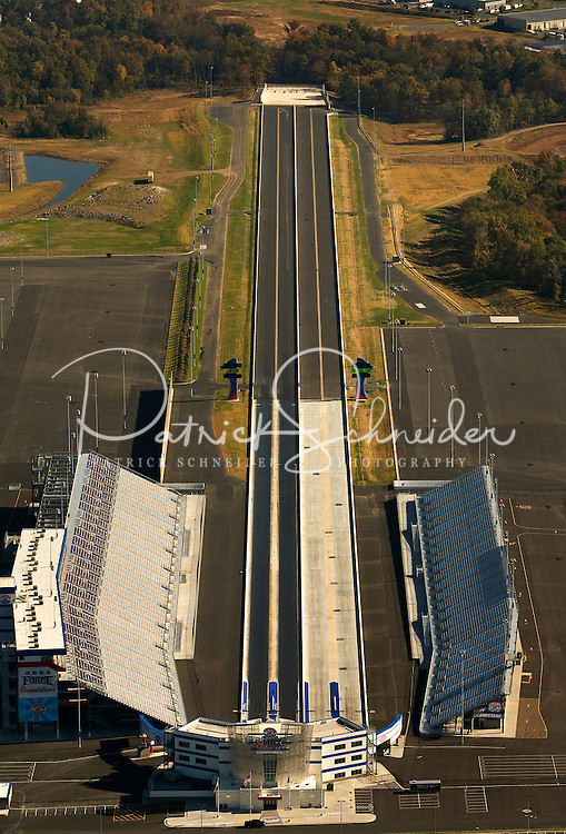 Aerial view of the new zMax Dragway at Lowe's Motor Speedway in Concord, NC.