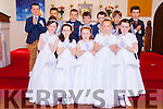 Children from second class in Castlegregory National School made their First Holy Communion in St Mary's Church on Saturday. Mass was celebrated by Parish Priest Fr Michael Hussey. Pictured front l-r were: Alanah Whelan, Máire Flynn, Katie Crean, Lilly Hennessy and Lucy Finn. Back l-r were: Darren Smith, Cian Miller, Hugh Crean, Luke Power, Ronan Harty, Dylan Harrington and Calvin Griffin.