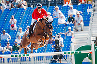 CAN-Eric Lamaze rides Chacco Kid during the Second Competition - Round 1. FEI World Team and Individual Jumping Championship. 2018 FEI World Equestrian Games Tryon. Thursday 20 September. Copyright Photo: Libby Law Photography