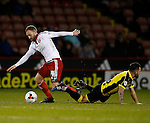Matt Done of Sheffield Utd tussles with Robbie Weir of Burton Albion - English League One - Sheffield Utd vs Burton Albion - Bramall Lane Stadium - Sheffield - England - 1st March 2016 - Pic Simon Bellis/Sportimage