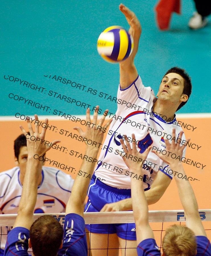 Odbojka, Svetska Liga, Volleyball, World league.Serbia Vs. Russia.Bojan Janic.Belgrade, 01.07.2007..foto: Srdjan Stevanovic.